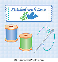 Stitched with Love, Needle, Thread