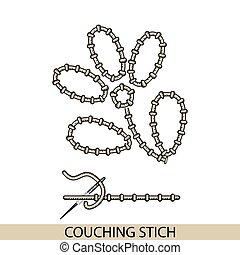 stitches., costura, bordado, hilo, costura, colección, mano...