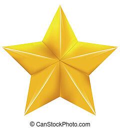 stjärna, guld
