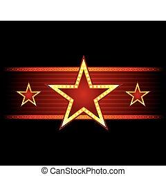 stjärna, hos, seamless, struktur