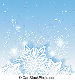 stjärna, jul, bakgrund, snöflinga