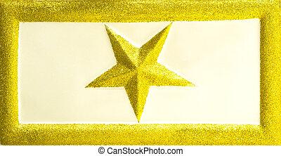 stjärna, jul, glittrande
