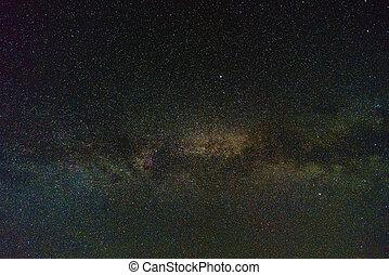 stjärna, natt himmel, fyllda, av, stjärnor