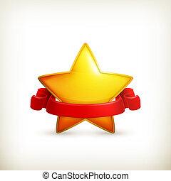 stjärna, pris, vektor