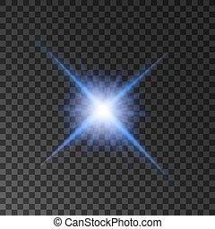 stjärna, shine., dager strålar, spotlight, lysande