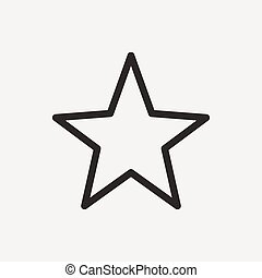 stjärna, skissera, ikon