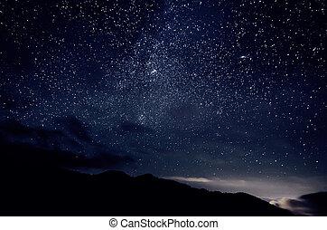 stjärna, sky
