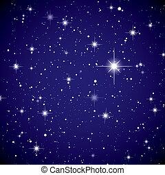 stjärna, utrymme, sky, synhåll