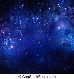 stjärnbeströdd himmel, bakgrund, utrymme