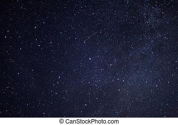 stjärnbeströdd himmel