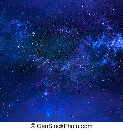 stjärnbeströdd himmel, natt