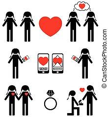 stjärnfall, kärlek, homosexuell, kvinnor