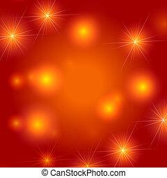 stjärnor, bakgrund, in, apelsin