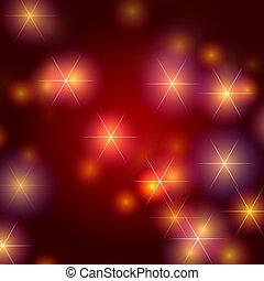stjärnor, bakgrund, in, röd