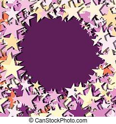 stjärnor, bakgrund, violett, vektor