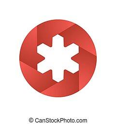 stjerne, abstrakt, kors, kreative, lukker, vektor, konstruktion, uendelig, logo, logo., template., bånd, ikon