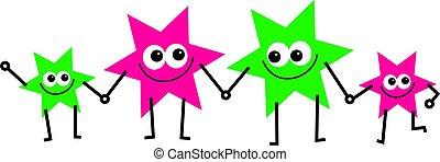 stjerne, familie