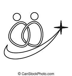stjerne, udkast, commitment, sammen, løsning, teamwork, logo
