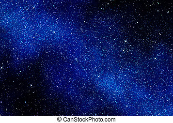 stjerner, ind, arealet, eller, nat himmel