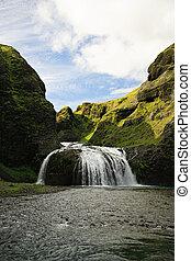 Stjornarfoss waterfall