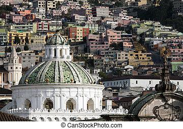 stołeczna katedra, od, quito, ekwador