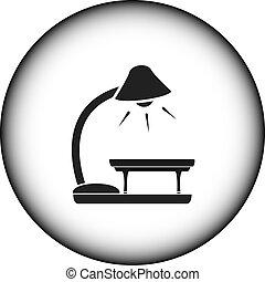 stołowa lampa, ikona, podłoga