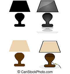 stołowa lampa
