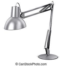 stołowa lampa, metal, albo, biurko