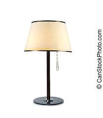 stołowa lampa, odizolowany