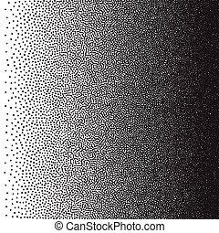 Stochastic raster halftone gradient print