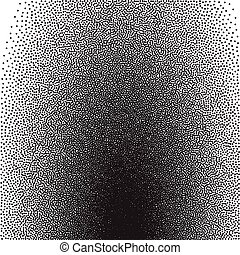 stochastic, raster, halftone, gradiente, impressão