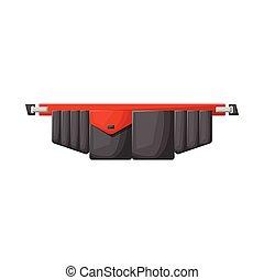 stock., ベルト, アイコン, 道具, logo., デザイン, ベクトル, toolbag, グラフィック