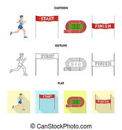 stock., 勝者, コレクション, ビットマップ, イラスト, フィットネス, icon., スポーツ, アイコン