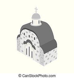 stock., 正統, オブジェクト, シンボル。, コレクション, 隔離された, ベクトル, 教会, チャペル, アイコン