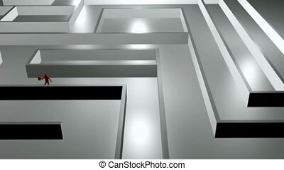 Business Maze - Stock Animation of a man Running Through a...