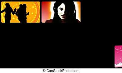 Stock animation presenting people on the dancefloor in HD