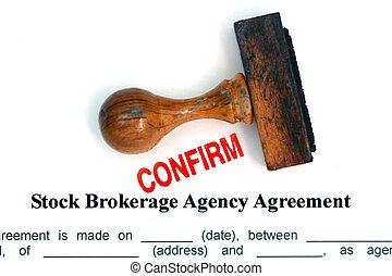 Stock brokerage agreement