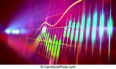 """"""" Stock Business concept background. Seamless loop."""""""