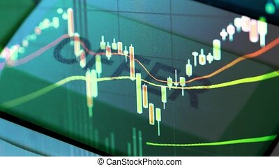 stock chart concept