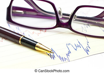 Stock charts and financial accounting