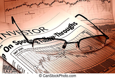 Stock Charts - Photo of Glasses and Business Stock Charts