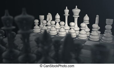 Stock ChessBoard 01 (24fps) - Chess pieces on a chess board
