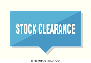 stock clearance price tag - stock clearance blue square...