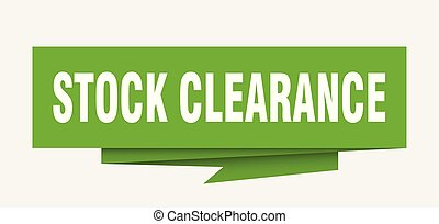 stock clearance sign. stock clearance paper origami speech...