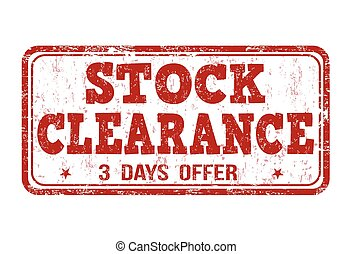 Stock clearance stamp