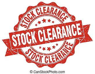 stock clearance stamp. sign. seal