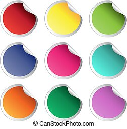 stock color vector glossy stickers