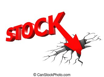 Stock crash - Rendered artwork with white background