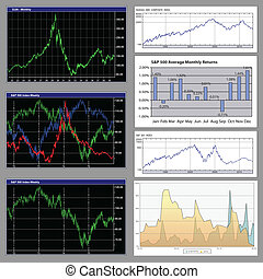 Stock diagrams, business graphs - Stock diagrams and ...