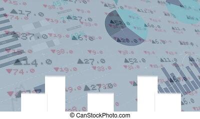Stock exchange against arrows falling down